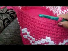 Cesto Moisés em crochê (Lateral) - YouTube