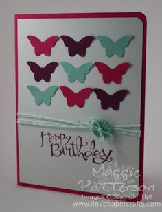 I Love Papercrafts : Bitty Butterfly Punch Card - Inspired by Pinterest