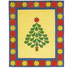 Starred And Feathered Machine Applique Wall Quilt by CraftersCreek, $7.00