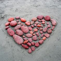 Pink rock heart
