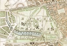 "One of the scenes from this book is set in Hyde Park. Hyde Park section of ""Improved map of London for from Actual Survey. Engraved by W. Hyde Park Map, Hyde Park Corner, Hyde Park London, London Landmarks, London Map, England Map, London England, Royal Park, Historical Maps"