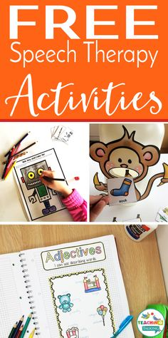 Free Speech Therapy Activities - Teaching Talking