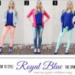 Spring Fashion : Three Ways to Wear Royal Blue! #ThisisStyle #shop