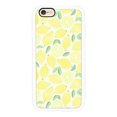 iPhone 6 Plus/6/5/5s/5c Case - Summer Lemons ($40) ❤ liked on Polyvore featuring accessories, tech accessories, cases, phone cases, tech, iphone case, apple iphone cases and iphone cover case