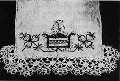 """""""rúška"""" (long narrow headscarf) that used to belong to Rozina Orságová-Vranecká, née Urbanová, born 1820 - Nový Hrozenkov, Valašsko"""