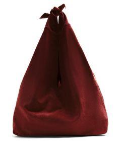 Bindle suede shoulder bag | The Row | MATCHESFASHION.COM UK