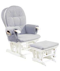 grey & white glider rocker chair