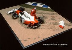 F1 Diorama by Steve Mohlenkamp. TAMIYA 1/20 scale McLaren MP4/8. Michael Andretti. Brazilian GP, Interlagos 1993. #Formula_1 #scale_model #diorama