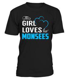 This Girl Love Her MONSEES Last Name T-Shirt #Monsees