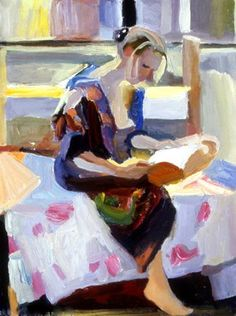 Young Woman Reading, Martha Armstrong   /   R&A
