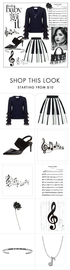 """""""I got the music in me.."""" by mapsbabe47 ❤ liked on Polyvore featuring 10 Crosby Derek Lam, WithChic, Tory Burch, Alex Woo and Ashley M"""