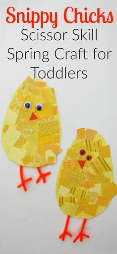 Snippy Chicks: Scissor Skill Spring Craft for Toddlers - I Can Teach My Child! Snippy Chicks: Scissor Skill Spring Craft for Toddlers! A cute and easy spring activity! Spring Toddler Crafts, Summer Crafts, Spring Craft For Toddlers, Easter Crafts For Toddlers, Chicken Crafts, Chicken Art, Easter Activities, Spring Activities, Time Activities