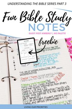 How To Take Fun Bible Study Notes -