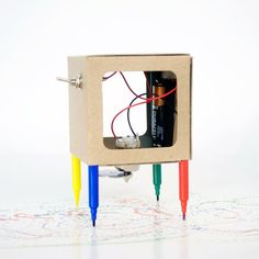 Make you own drawing robot. SO fun!