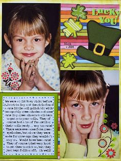 Make a Festive St. Patrick's Day Page with Shamrocks and a Leprechaun