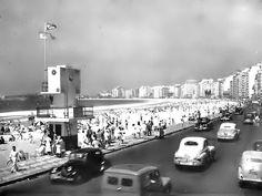 Praia de Copacabana, 1956.