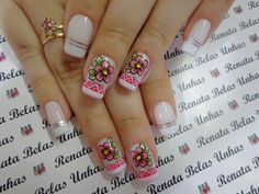 Crafts For Teens, Diy And Crafts, Glitter Make Up, French Tip Nails, Wedding Videos, Manicure And Pedicure, Nail Arts, Craft Videos, Craft Tutorials