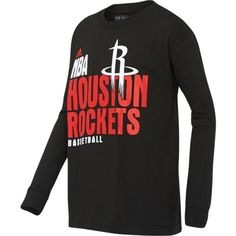 Image for adidas Boys' Houston Rockets Stacked Extreme Long Sleeve T-shirt from Academy