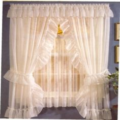 Priscilla curtains... {always wanted these for my room}
