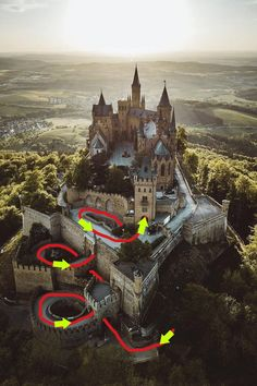 Top 5 Dazzling Castles You Must See In Germany - UNESCO Heritage Explore the myths in their origins and enjoy the captivating medieval architecture of the most famous castles in Germany. Chateau Medieval, Medieval Castle, Medieval Fantasy, Abandoned Castles, Abandoned Places, Haunted Places, Abandoned Mansions, Ancient Architecture, Amazing Architecture