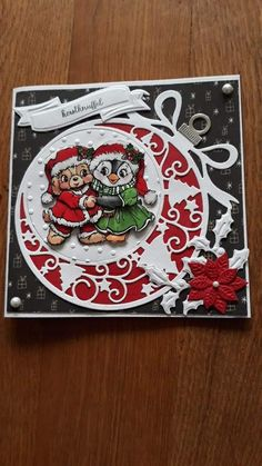 Christmas Card Crafts, Handmade Christmas, 3d Cards, Xmas Cards, Paper Quilling Cards, Marianne Design Cards, Cricut Cards, Animal Cards, Halloween Cards