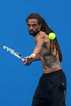 Tennis Games, Tennis Tips, Dustin Brown Tennis, Tennis Drawing, Browning Tattoo, Professional Tennis Players, Tennis Clothes, Sport Football, Gorgeous Men