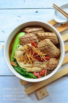 Somen Noodles With Pork Kidney 麻油腰花麵線