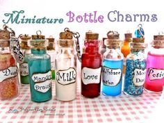 Mini Glass Bottle Charms Ideas | Mini Fashion Diy How To Make Vial Bottle Candy Or Colored Sand ...
