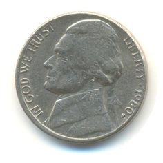 Vintage Coin USA 5 Cents Nickel 1980 from JMCVintagecards on Etsy