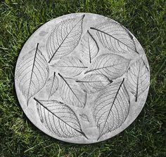 Hydrangea Leaf Stepper cast stone Stepping Stone made by Campania International