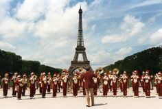 USC Trojans marching band -Eiffel Tower Paris, France - May 1994. Even France knows what's up!
