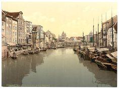 Fish and vegetable market, Konigsberg, East Prussia, Germany - 1890-1900