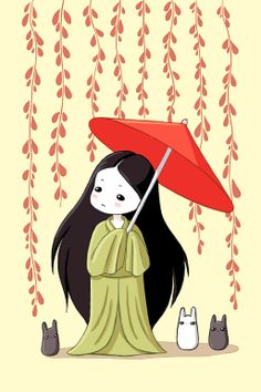 "kokeshi: kawaii // Saatchi Online Artist: Indrė Bankauskaitė; Painting, Digital ""Little Friends"""