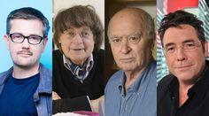 Les dessinateurs Charb, Cabu, Wolinski et Tignous (de gauche à droite).   SIPA #CharlieHebdo