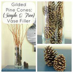 Gilded Pine Cones