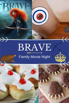 Movie Night For Kids, Dinner And A Movie, Family Movie Night, Disney Inspired Food, Disney Food, Ice Roll, Brave Movie, Disney Dinner, Merida Disney