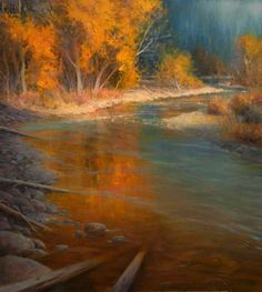 D Eleinne Basa   River Reflections 36 x 40 Oil