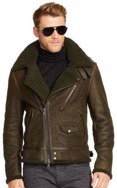 Olive Leather Biker Jacket by Ralph Lauren Black Label. Buy for $3,495 from Ralph Lauren