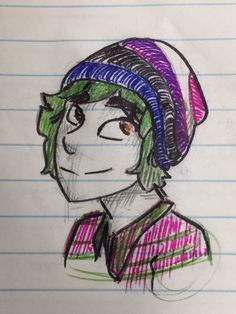 alex fierro wearing a beanie with the genderfluid pride flag colors Tio Rick, Uncle Rick, Magnus Chase, Alex Fierro, Rick Riordan Books, Solangelo, Heroes Of Olympus, I Am Game, Character Illustration