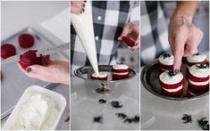 Red velvet cakes wit
