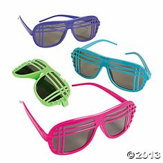 Neon '80's Sunglasses
