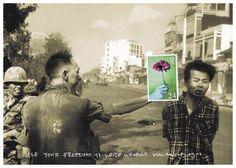"""Impresionante anuncio de Amnistía Internacional. La imagen original, la famosa """"General Nguyễn Ngọc Loan ejecutando a un prisionero del Viet Cong en Saigón"""", obra del fotógrafo estadounidense Eddie Adams"""