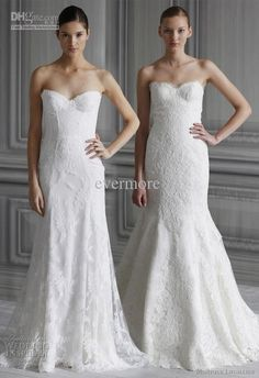 Wholesale 2013 Lace Wedding Dresses Sweetheart Sheath Court Train Long Bridal Gown, Free shipping, $189.28-190.4/Piece | DHgate