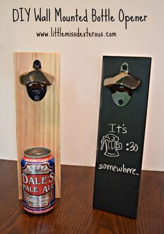 A DIY Bottle Opener is necessary in every home of a beer drinker! SO easy to make and so fun to create and personalize!