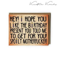Funny Birthday greeting card- digital file only for DIY printing- Instant Download- Kraftie Kards by KraftieKards on Etsy