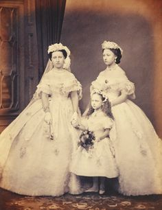Princess Helena, Princess Louise and Princess Beatrice, March 1863 [in Portraits of Royal Children