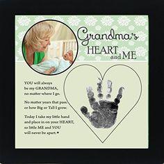 Baby Child Keepsake Handprint Frame with Poetry - Mommy, Daddy, Grandma or Grandpa (Grandma)