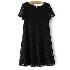 39,90EUR Spitzenkleid Kleid schwarz aus Spitze