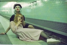 "358 Likes, 2 Comments - Lia (@la.lia) on Instagram: ""waiting for the train ✨ w/ @cheriepooo #35mm #cinestill800 by @dream.dimension"""
