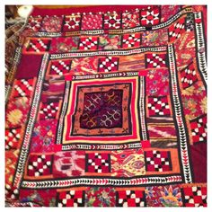 Kirgiz nomads tent decoration, patchwork and silk embroidery 1900